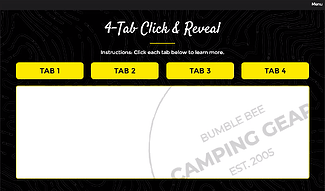 bumblebee 4-tab click to reveal layout, no text