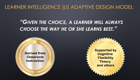 Learner Intelligence Adaptive Design Model benefits