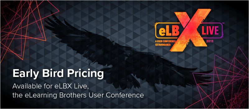 Early Bird Pricing Available for eLBX Live, the eLearning Brothers User Conference_Blog Header 800x350