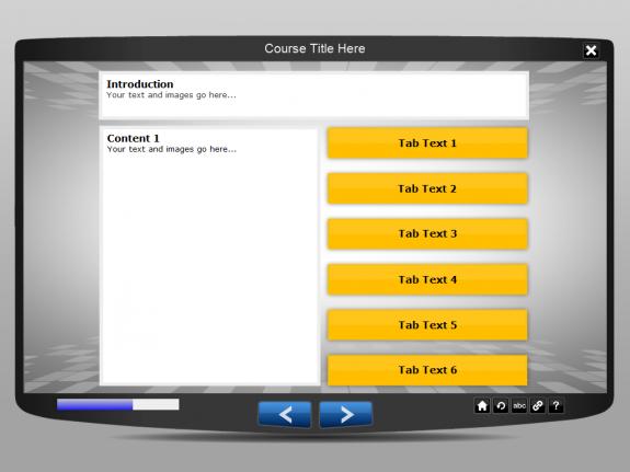 Lectora interaction template