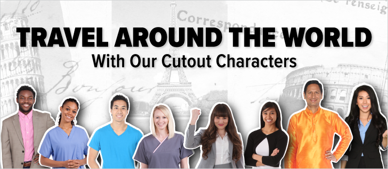 Travel Around the World With Our Cutout Characters