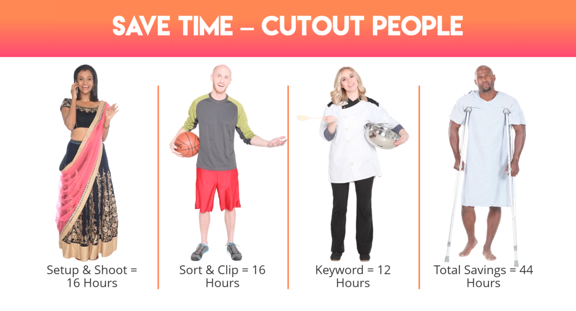 cutout people time saved chart