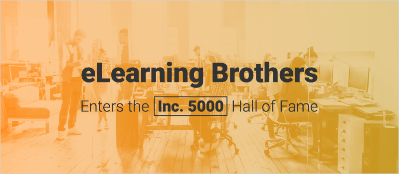 eLearning Brothers Enters the Inc. 5000 Hall of Fame_Blog Header