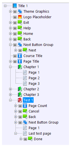 Title Explorer tab view of the title