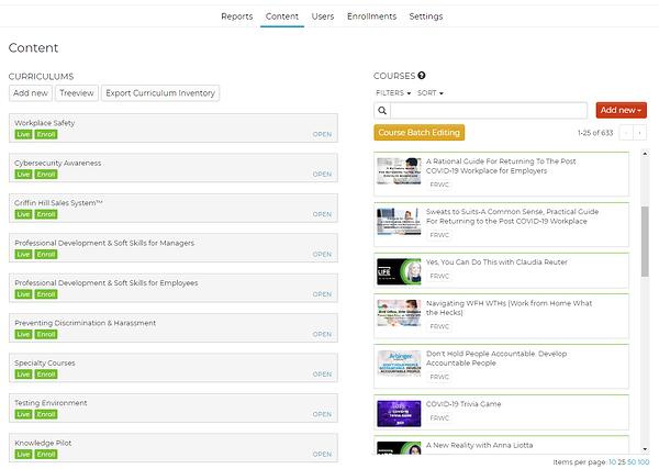 screen inside Knowledgelink