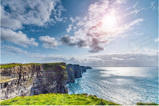 cliffs of moher stock photo background