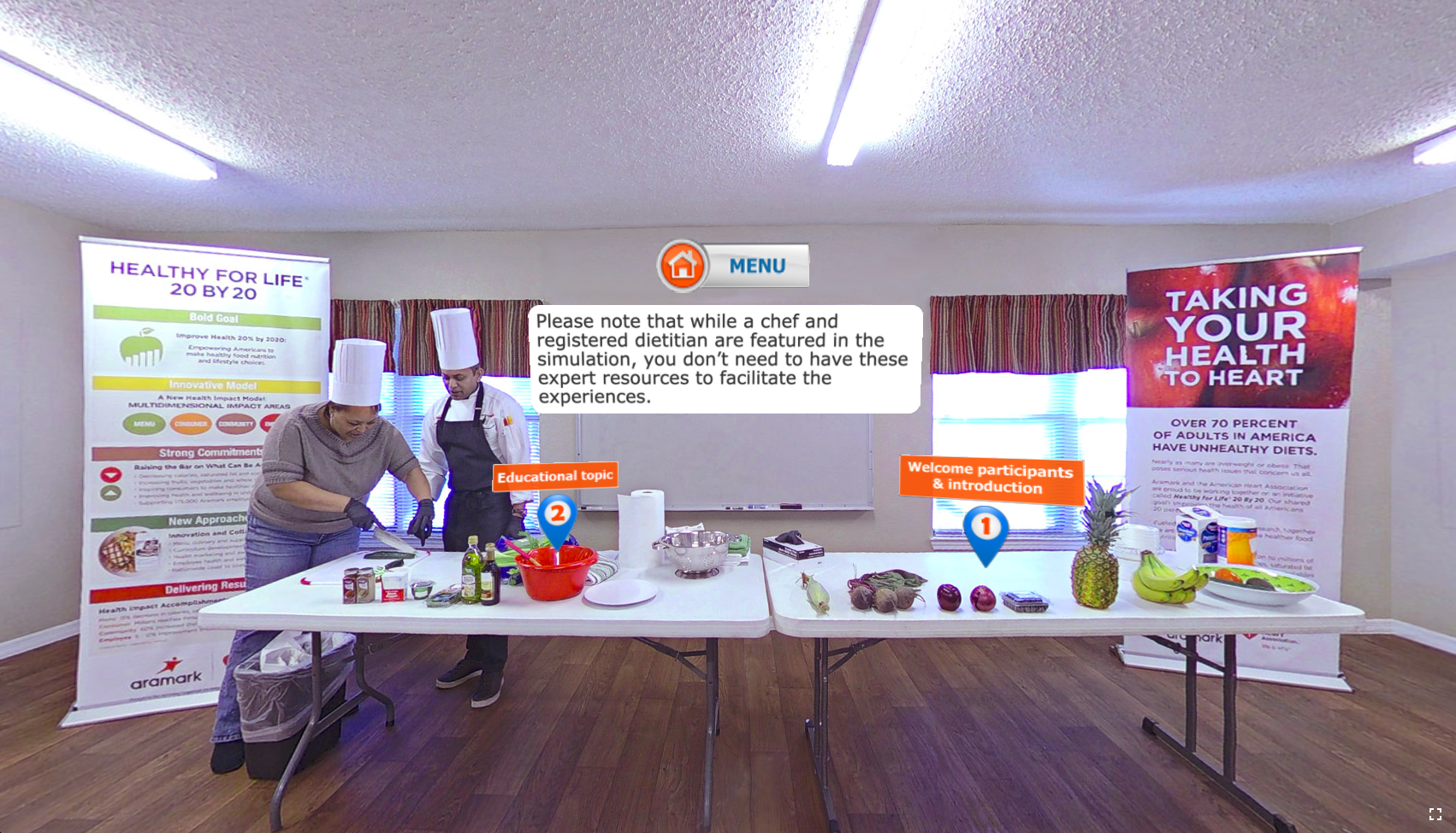 Screenshot of the Healthy for Life 360 experience
