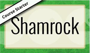shamrock elearning template green irish