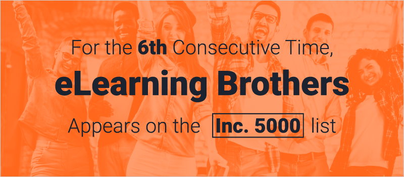 For the 6th Consecutive Time, eLearning Brothers Appears on the Inc. 5000 list_Blog Header 800x350