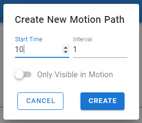 setting your motion path timing