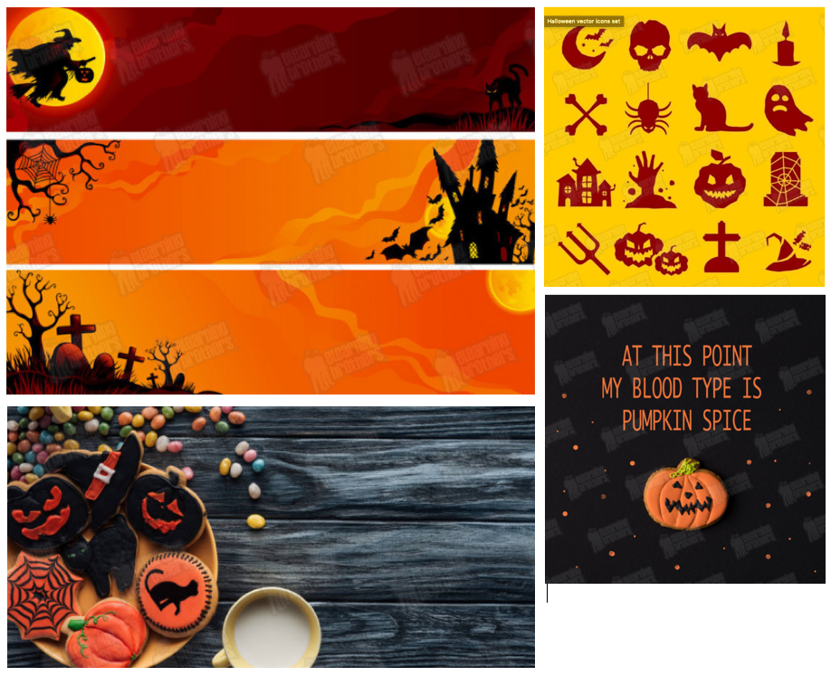 Fun Halloween background graphics