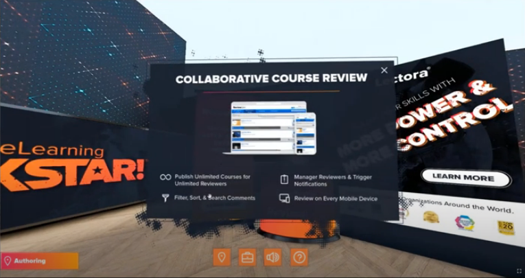 Screenshot of a popup window in the virtual expo hall