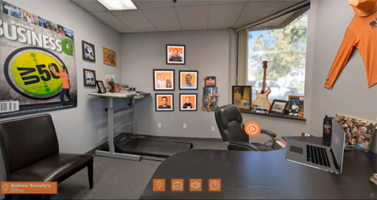 Screenshot of Andrew Scivally's office in the eLBX Online Expo Hall