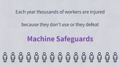 image sharing that thousands of workers are injured each year because they don't use machine safeguards