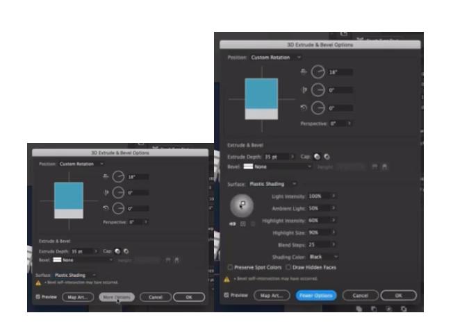 setting light source for 3D shapes in Illustrator