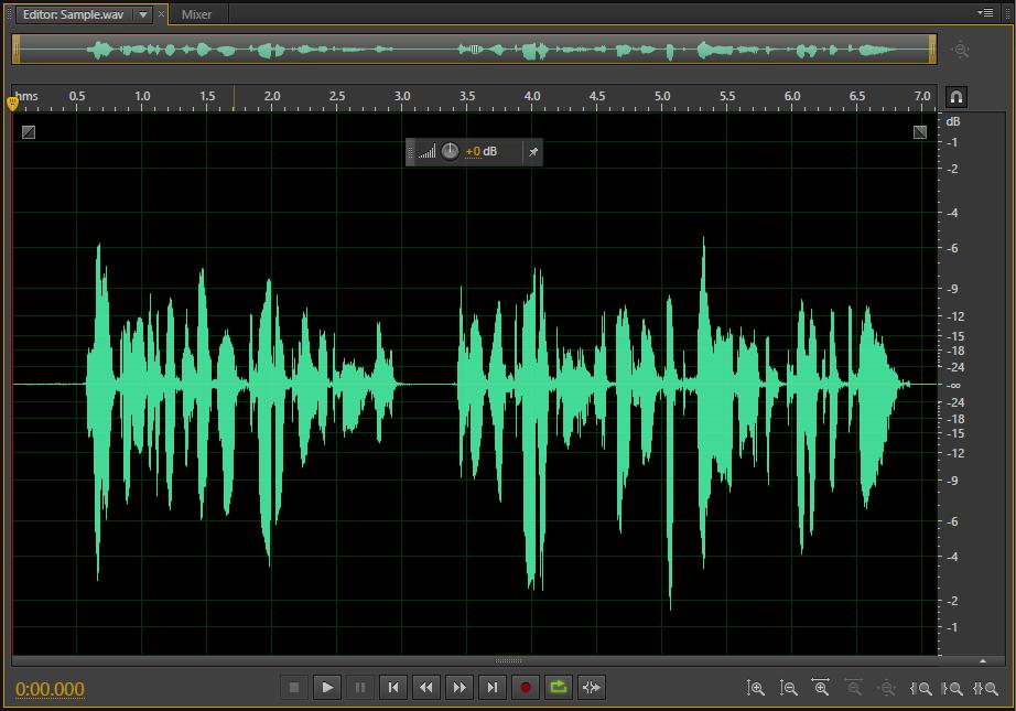 Waveform editor screenshot
