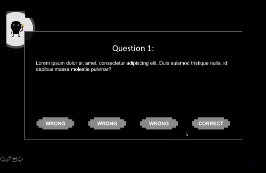 Maze Master PowerPoint game question slide