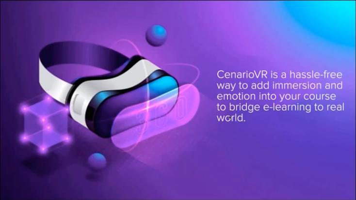 CenarioVR is a hassle-free way to add immersion and emotion into your course.