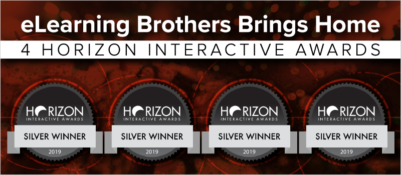 eLearning Brothers Brings Home 4 Horizon Interactive Awards_Blog Header 800x350
