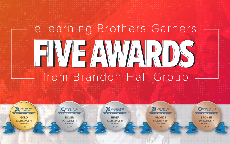 eLearning Brothers Garners Five Awards from Brandon Hall Group