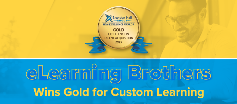 eLearning Brothers Wins Gold for Custom Training_Blog Header 800x350