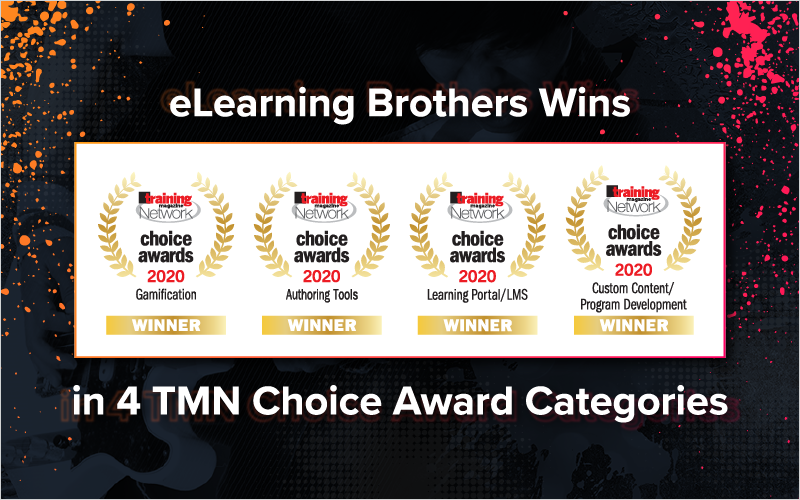 eLearning Brothers Wins in 4 TMN Choice Award Categories