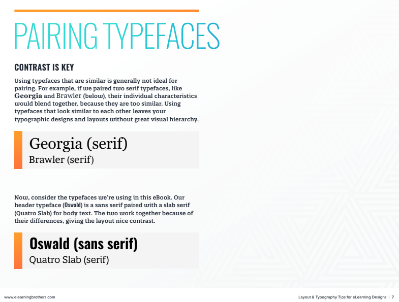 pairing typefaces preview
