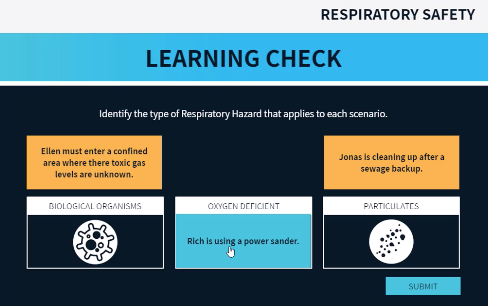 respiratory learning check