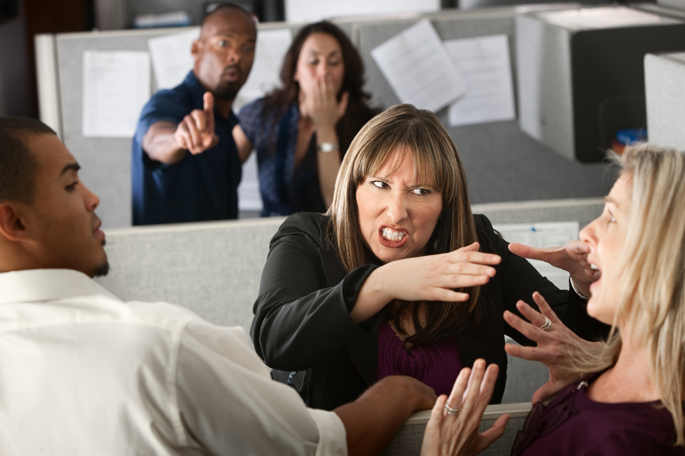 workplace violence warning sign stock photo
